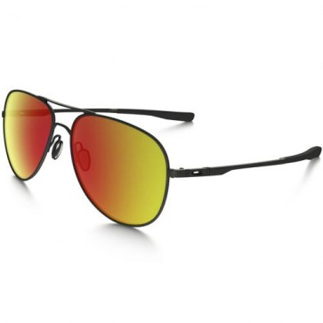 Oakley Elmont Sunglasses - Satin Black/Ruby Iridium