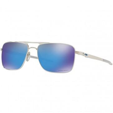 Oakley Gauge 6 TI Sunglasses - Polished Chrome/Prizm Sapphire