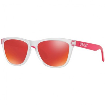 Oakley Frogskins Colorblocked Sunglasses - Matte Clear/Torch Iridium