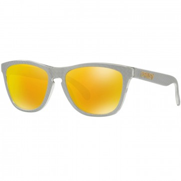 Oakley Frogskins Checkbox Sunglasses - Silver/Prizm Fire Iridium