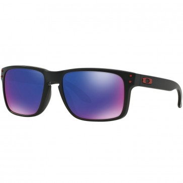 Oakley Holbrook Sunglasses - Matte Black/Positive Red Iridium