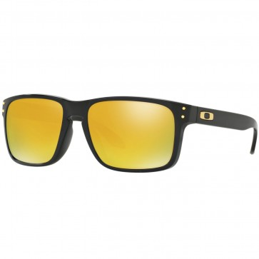 Oakley Holbrook Sunglasses - Polished Black/24K Iridium