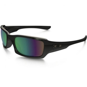 Oakley Fives Squared Polarized Sunglasses - Polished Black/Prizm Shallow Water