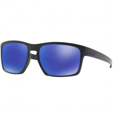 Oakley Sliver Polarized Sunglasses - Matte Black/Violet Iridium