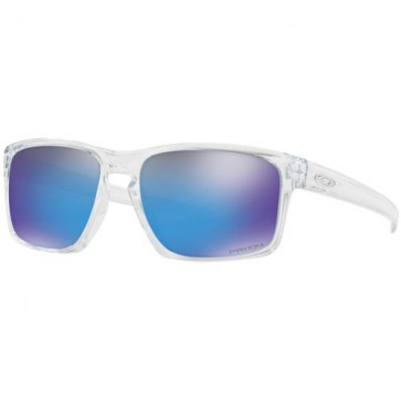 Oakley Sliver Sunglasses - Polished Clear/Prizm Sapphire