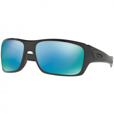 Oakley Turbine Polarized Sunglasses - Polished Black/Prizm Deep Water