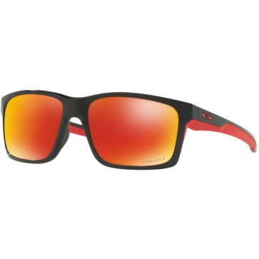 Oakley Mainlink Polarized Sunglasses - Polished Black/Prizm Ruby