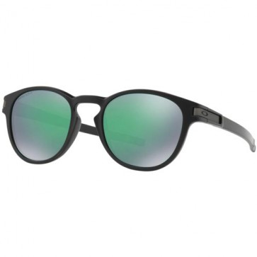 Oakley Latch Sunglasses - Matte Black/Prizm Jade