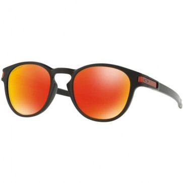 Oakley Latch Prizm Sunglasses - Matte Black/Torch Iridium