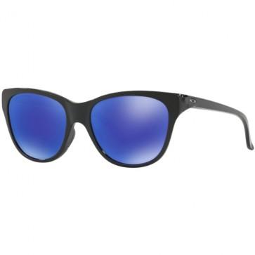 Oakley Women's Hold Out Polarized Sunglasses - Polished Black/Violet Iridium