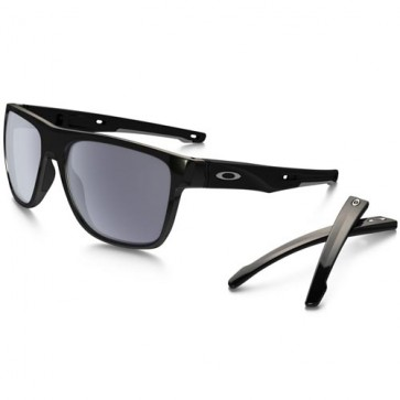 Oakley Crossrange XL Sunglasses - Polished Black/Grey