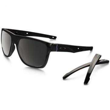 Oakley Crossrange XL Polarized Sunglasses - Polished Black/Prizm Black