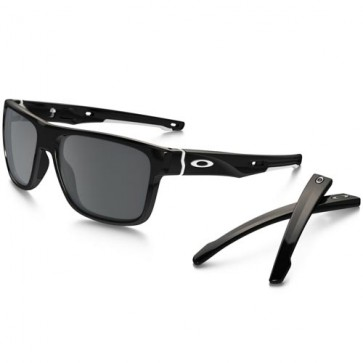 Oakley Crossrange Sunglasses - Polished Black/Black Iridium