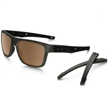 Oakley Crossrange Polarized Prizm Sunglasses - Woodgrain