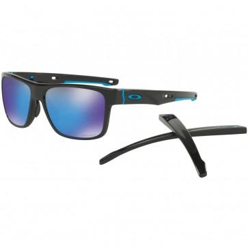 Oakley Crossrange Sunglasses - Polished Black/Prizm Sapphire