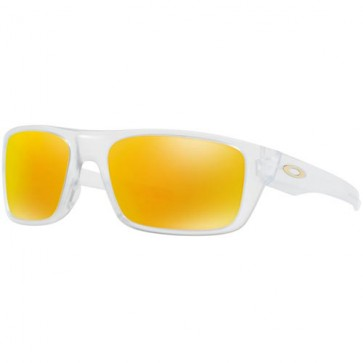 Oakley Drop Point Sunglasses - Matte Clear/Fire Iridium