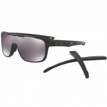 Oakley Crossrange Shield Sunglasses - Matte Black/Prizm Black