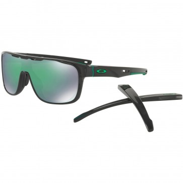 Oakley Crossrange Shield Sunglasses - Black Ink/Prizm Jade Iridium