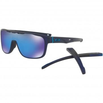 Oakley Crossrange Shield Sunglasses - Matte Translucent Blue/Prizm Sapphire