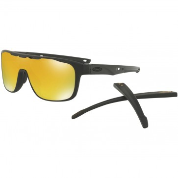 Oakley Crossrange Shield Sunglasses - Matte Black/24k Iridium