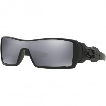 Oakley Oil Rig Sunglasses - Matte Black/Black Iridium