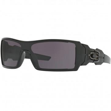 Oakley Oil Rig Sunglasses - Polished Black/Warm Grey