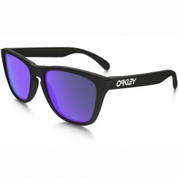 Oakley Women's Frogskins Sunglasses - Matte Black/Violet Iridium