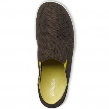 Olukai Nohea Mesh Shoes - Seal Brown/Sulfur