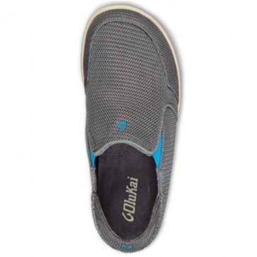 Olukai Nohea Mesh Shoes - Grey/Scuba