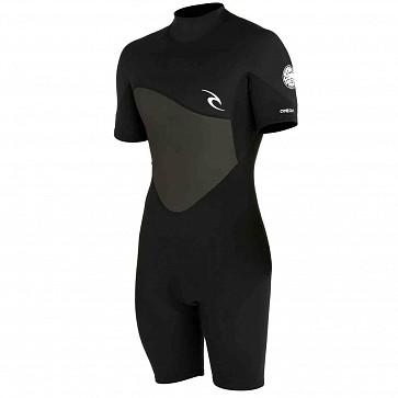 Rip Curl Omega 1.5mm Short Sleeve Spring Wetsuit - Black