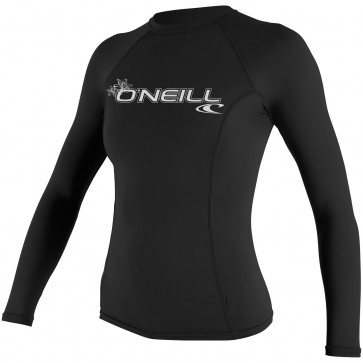 O'Neill Wetsuits Women's Basic Skins Long Sleeve Crew - Black