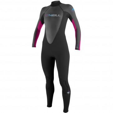 O'Neill Women's Reactor 3/2 Wetsuit - Black/Graphite/Berry