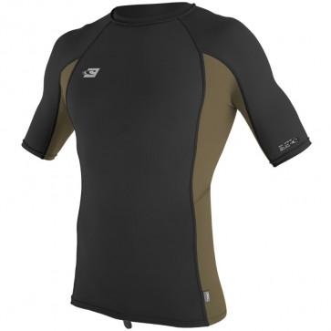 O'Neill Wetsuits Premium Skins Rash Guard - Black/Khaki
