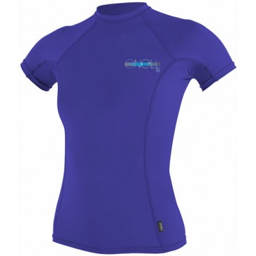 O'Neill Wetsuits Women's Skins Short Sleeve Rash Guard - Cobalt