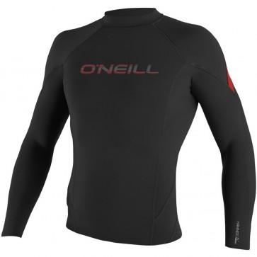 O'Neill Hammer 1.5/1mm Long Sleeve Crew - Black/Red