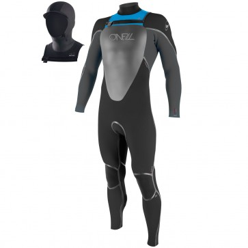 O'Neill Youth Mutant 5/4/3 Hooded Wetsuit - Black/Graphite/Tahiti