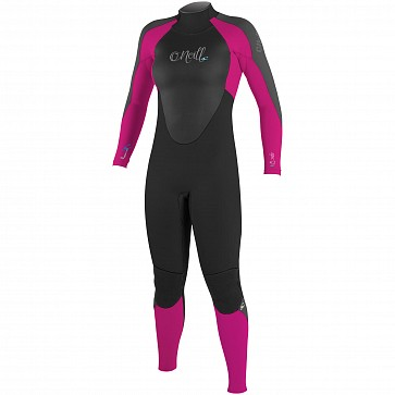 O'Neill Women's Epic 3/2 Back Zip Wetsuit - Black/Berry/Graphite