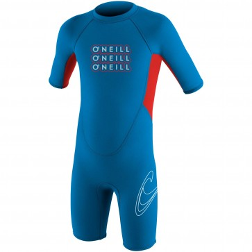 O'Neill Toddler Reactor Spring Wetsuit - Bright Blue/Red