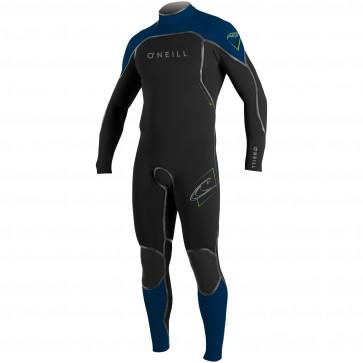 O'Neill Psycho I 4/3 Back Zip Wetsuit - Black/Navy/DayGlo