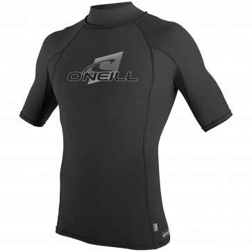 O'Neill Wetsuits Skins Short Sleeve Turtleneck - Black