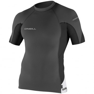 O'Neill Wetsuits Skins HyperFreak Short Sleeve Crew - Graphite/Black/White
