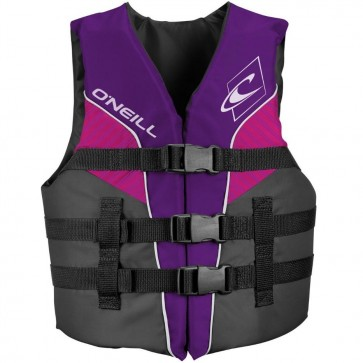 O'Neill Youth Superlite USCG PFD Vest - Ultra Violet/Smoke/Berry