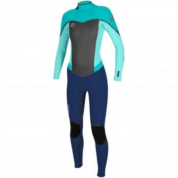O'Neill Women's Flair 3/2 Wetsuit - Navy/Seaglass/Aqua