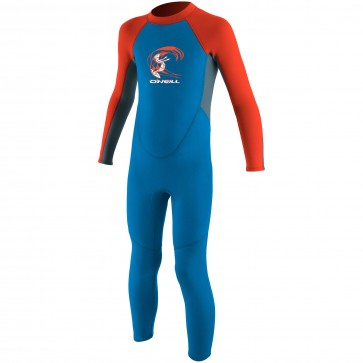 O'Neill Toddler Reactor 2mm Wetsuit - Bright Blue/Dusty Blue/Neon Red