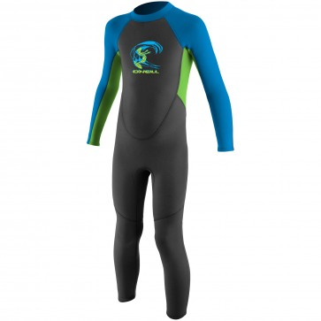 O'Neill Toddler Reactor 2mm Wetsuit - Graphite/DayGlo/Bright Blue