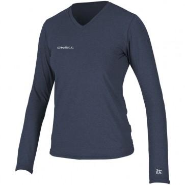 O'Neill Wetsuits Women's Hybrid Long Sleeve Rash Tee - Mist