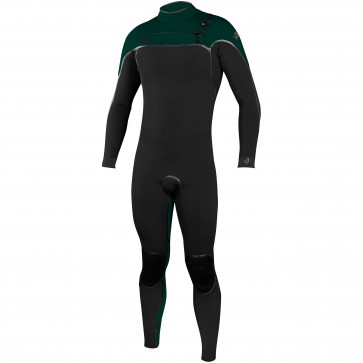 O'Neill Psycho I 4/3 Chest Zip Wetsuit - Black/Reef