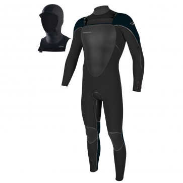 O'Neill Youth Mutant 5/4/3 Chest Zip Wetsuit with Hood - Black/Slate