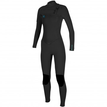 O'Neill Women's O'Riginal 4/3 Chest Zip Wetsuit - Black