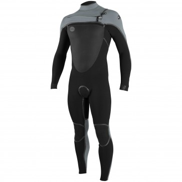 O'Neill Psycho Tech 3/2 Chest Zip Wetsuit - Black/Cool Grey